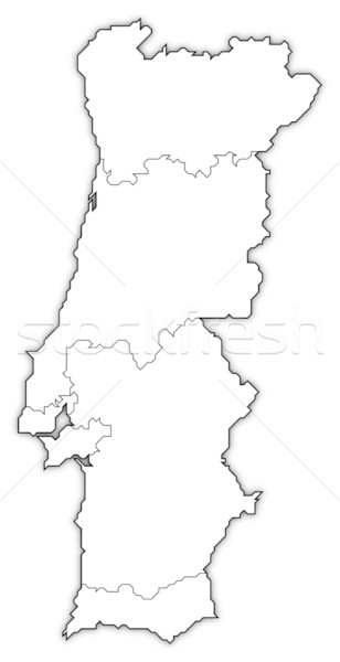 Map of Portugal Stock photo © Schwabenblitz