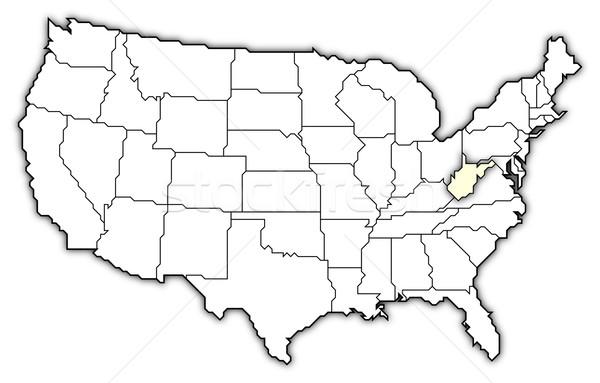 Mappa Stati Uniti Virginia Occidentale politico parecchi abstract Foto d'archivio © Schwabenblitz