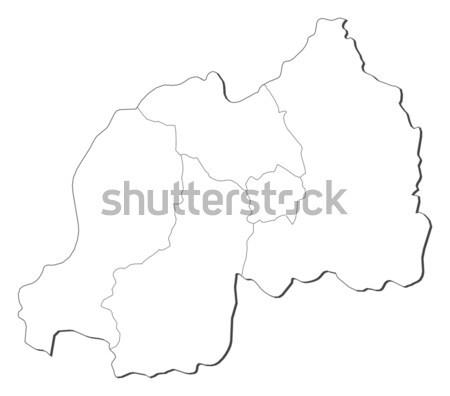 Map of Languedoc-Roussillon (France) Stock photo © Schwabenblitz