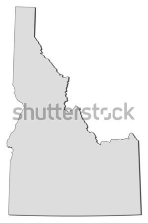 Foto stock: Mapa · Vermont · Estados · Unidos · abstrato · fundo · comunicação