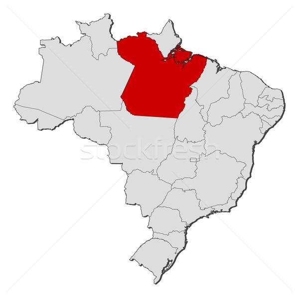 Map of Brazil, Par Stock photo © Schwabenblitz
