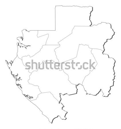 Foto stock: Mapa · Hungria · político · vários · abstrato · arte