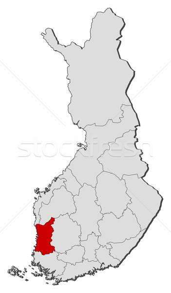 Harita Finlandiya siyasi birkaç bölgeler dünya Stok fotoğraf © Schwabenblitz