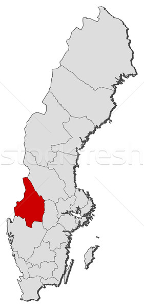 Map of Sweden, V Stock photo © Schwabenblitz