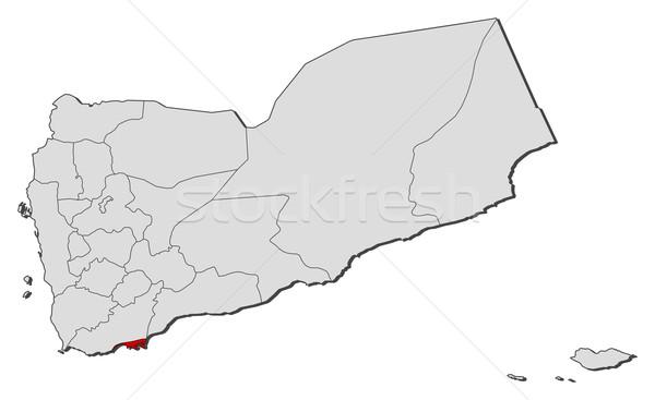 карта Йемен политический несколько аннотация земле Сток-фото © Schwabenblitz