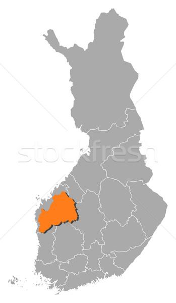 Map of Finland, Southern Ostrobothnia highlighted Stock photo © Schwabenblitz
