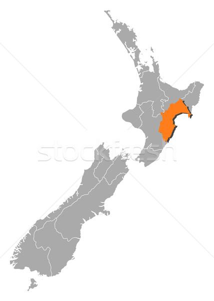 Map of New Zealand, Taranaki highlighted Stock photo © Schwabenblitz