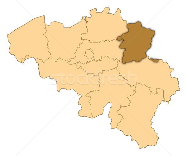 Map of Belgium, Limburg highlighted Stock photo © Schwabenblitz