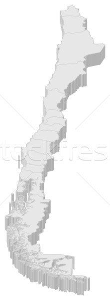 Map of Chile Stock photo © Schwabenblitz