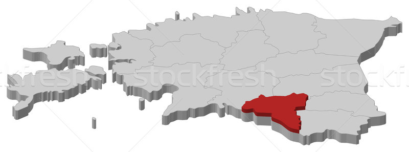 Kaart Estland politiek verscheidene abstract achtergrond Stockfoto © Schwabenblitz
