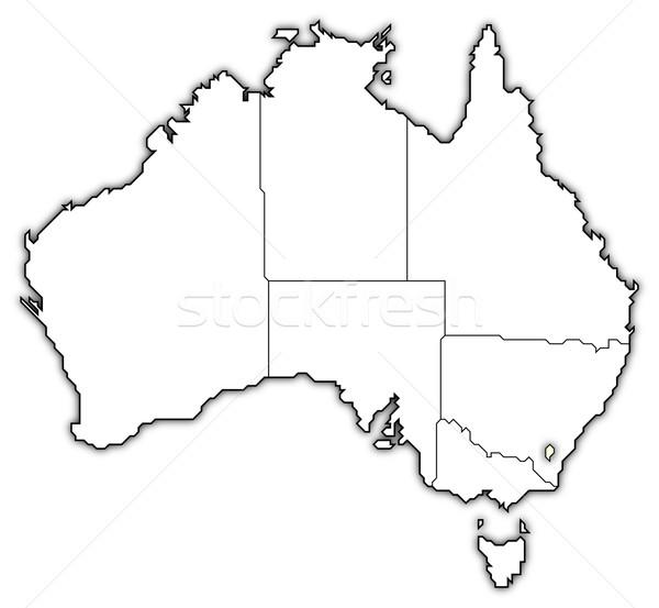 Map of Australia, Capital Territory highlighted Stock photo © Schwabenblitz