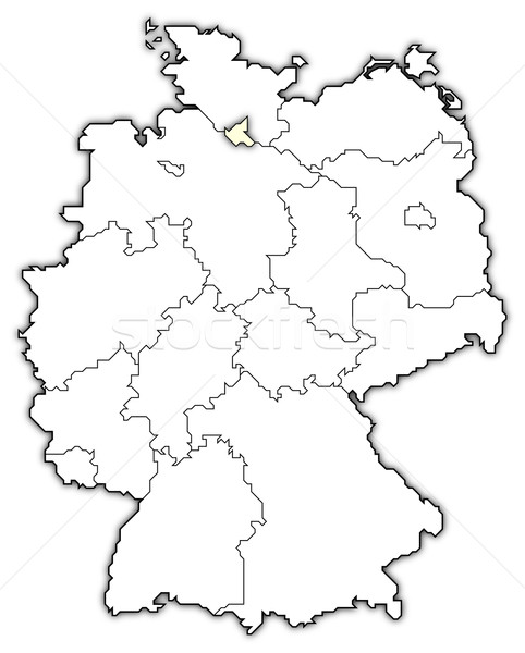 Map of Germany, Hamburg highlighted Stock photo © Schwabenblitz