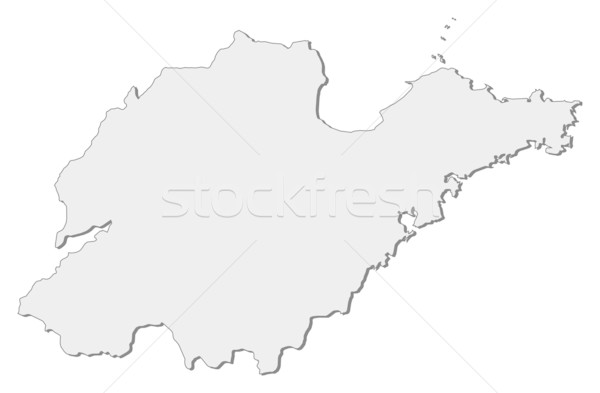 Map of Shandong (China) Stock photo © Schwabenblitz