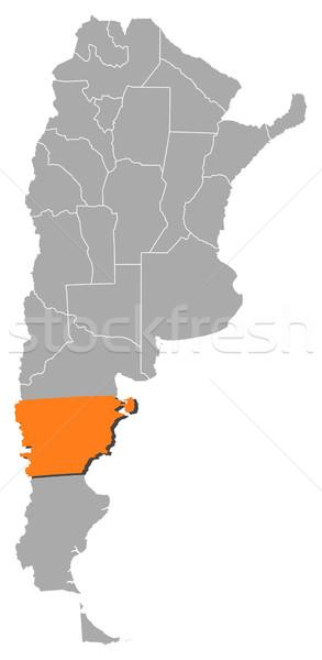 地図 アルゼンチン 政治的 いくつかの 世界中 抽象的な ストックフォト © Schwabenblitz