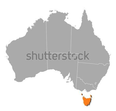 Harita Avustralya tazmanya siyasi birkaç dünya Stok fotoğraf © Schwabenblitz