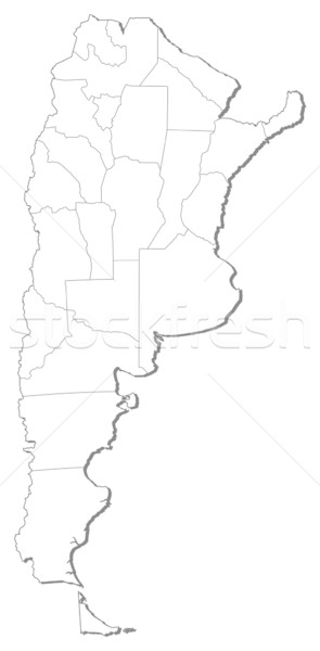 Stock photo: Map of Argentina