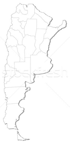 Stock fotó: Térkép · Argentína · politikai · néhány · absztrakt · művészet