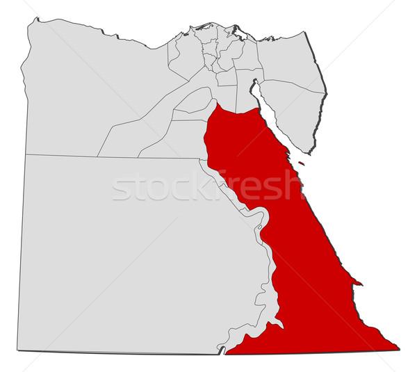 Carte Egypte mer rouge politique plusieurs monde Photo stock © Schwabenblitz
