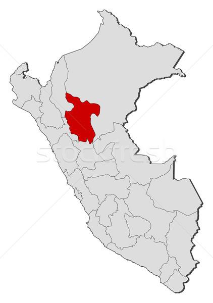 Harita Peru siyasi birkaç bölgeler dünya Stok fotoğraf © Schwabenblitz