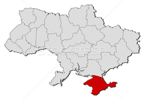 Map of Ukraine, Crimea highlighted Stock photo © Schwabenblitz