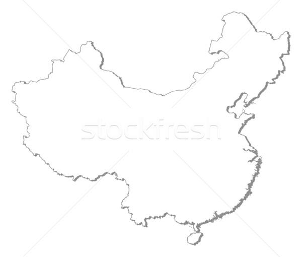 Stok fotoğraf: Harita · Çin · siyasi · birkaç · soyut · dünya