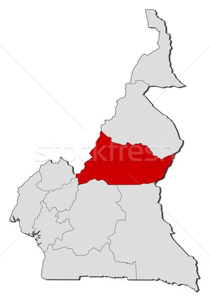 Mapa Camarões político vários regiões abstrato Foto stock © Schwabenblitz