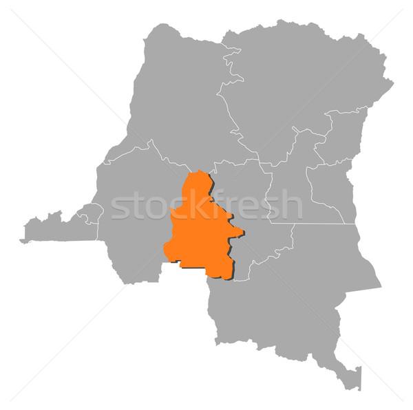 Harita demokratik cumhuriyet Kongo soyut arka plan Stok fotoğraf © Schwabenblitz