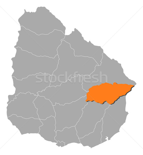 Map of Uruguay, Treinta y tres highlighted Stock photo © Schwabenblitz