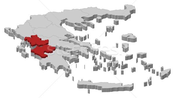 Mappa Grecia ovest politico parecchi abstract Foto d'archivio © Schwabenblitz