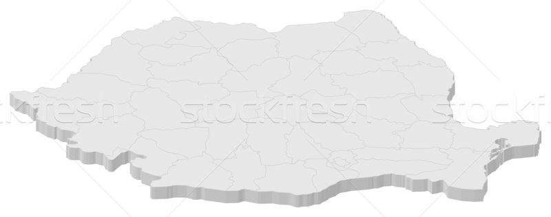 Kaart Roemenië politiek verscheidene abstract wereld Stockfoto © Schwabenblitz