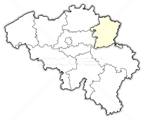ストックフォト: 地図 · ベルギー · 政治的 · いくつかの · 抽象的な · 背景
