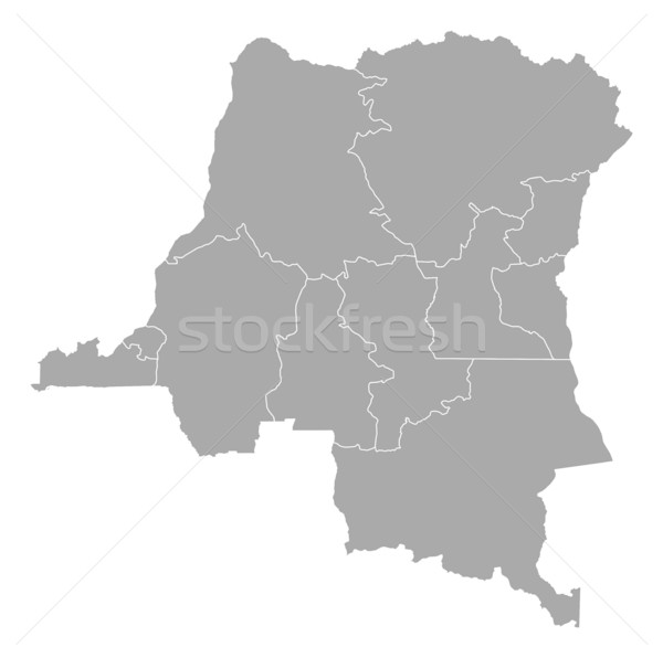 Map - Democratic Republic of the Congo Stock photo © Schwabenblitz