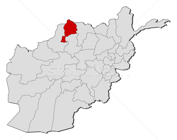 Map of Afghanistan, Jowzjan highlighted Stock photo © Schwabenblitz