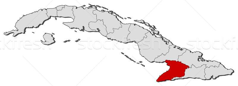 карта Куба политический несколько мира аннотация Сток-фото © Schwabenblitz