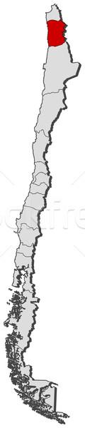 Stock photo: Map of Chile, Tarapac