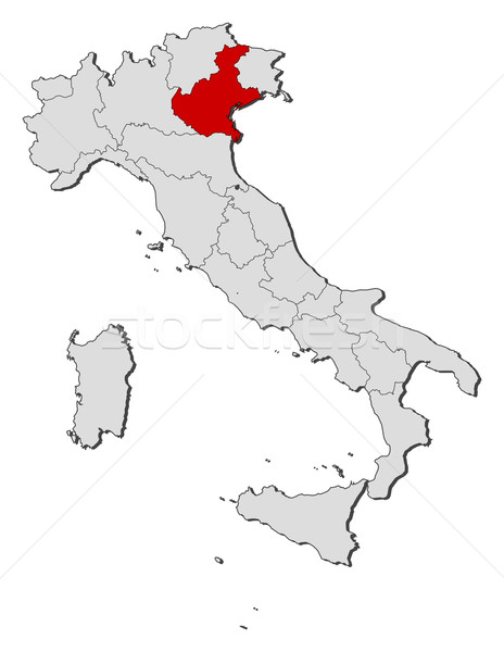 Map of Italy, Veneto highlighted Stock photo © Schwabenblitz