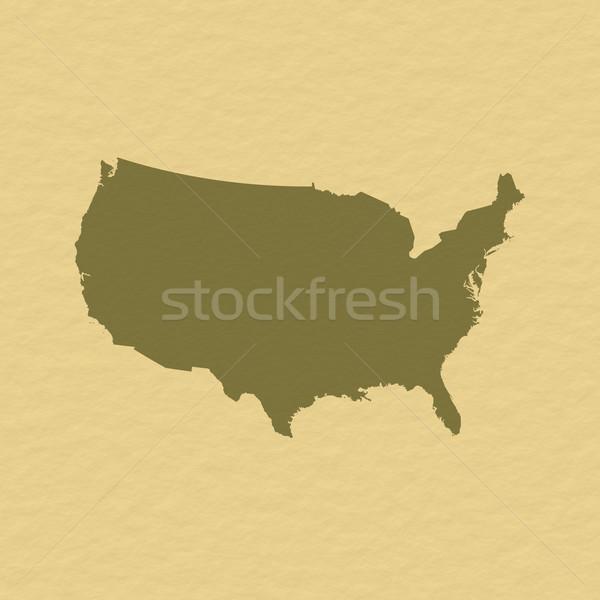 Kaart Verenigde Staten politiek verscheidene abstract wereld Stockfoto © Schwabenblitz