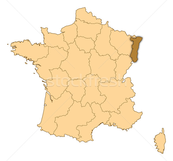 Map of France, Alsace highlighted Stock photo © Schwabenblitz