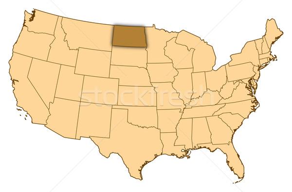 Harita Amerika Birleşik Devletleri Kuzey Dakota soyut arka plan iletişim Stok fotoğraf © Schwabenblitz