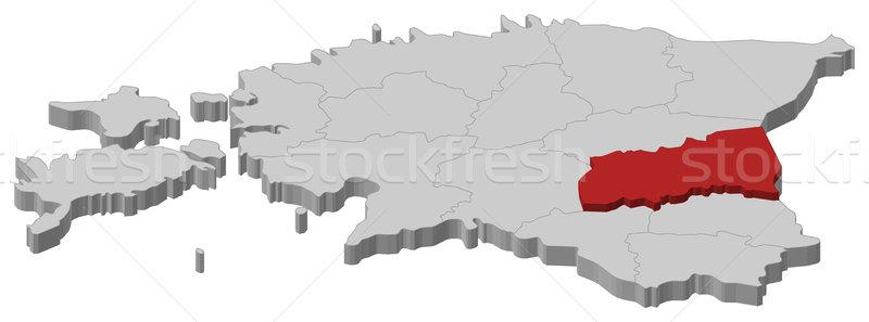 地図 エストニア 政治的 いくつかの 抽象的な 背景 ストックフォト © Schwabenblitz