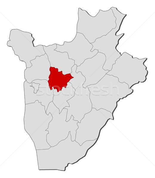 Mapa Burundi abstrato fundo vermelho comunicação Foto stock © Schwabenblitz