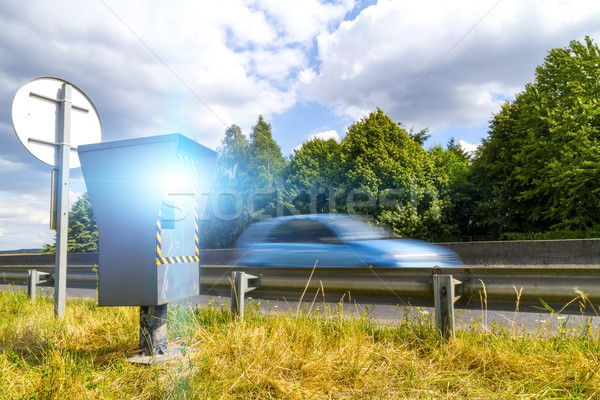 Automatisch snelheid camera radar auto Stockfoto © sdecoret