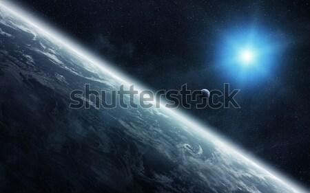 表示 月 近い 地球 スペース 空 ストックフォト © sdecoret