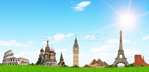 Viaje mundo famoso monumentos vacaciones primavera Foto stock © sdecoret