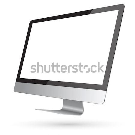 современных цифровой компьютер черный серебро белый Сток-фото © sdecoret