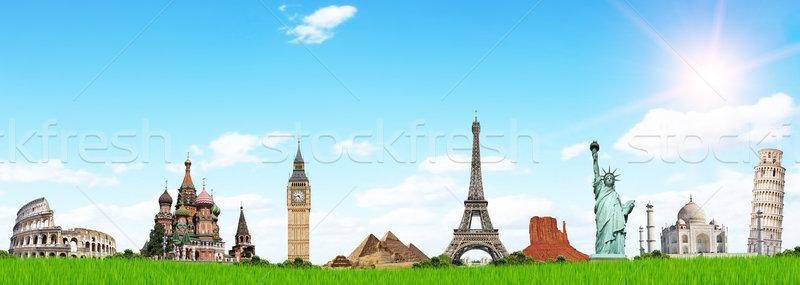 Seyahat dünya ünlü anıtlar tatil bahar Stok fotoğraf © sdecoret