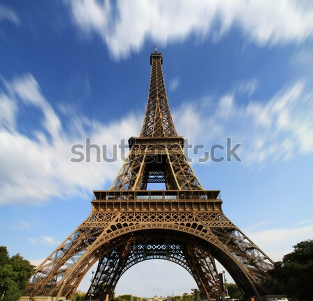 Foto stock: Paris · Torre · Eiffel · cidade · sol · viajar