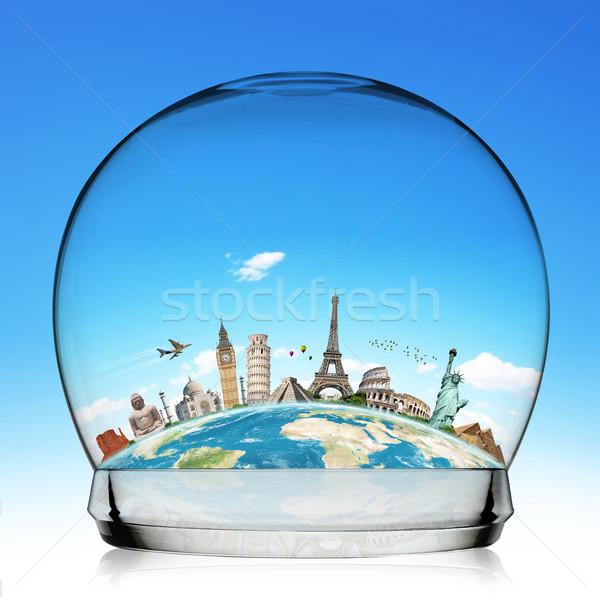 モニュメント 世界 雪玉 実例 有名な 雪 ストックフォト © sdecoret