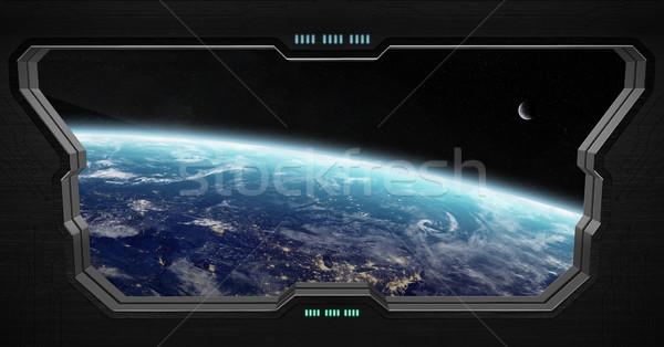 Vista espacio exterior dentro espacio estación ventana Foto stock © sdecoret