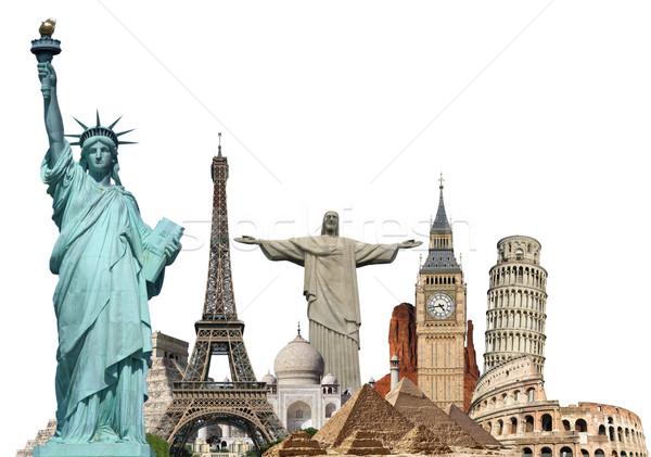 иллюстрация известный Мир памятники земле лет Сток-фото © sdecoret